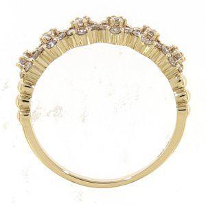 Diamond Half Eternity Band Jewelry Jewelry - Diamond Half Eternity Band Jewelry 14K Yellow Gold